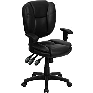Flash Furniture Mid-Back Fabric Multi-Functional Ergonomic Task Chair