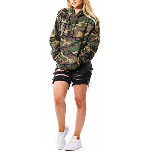Camouflage Pullover Hooded Sweatshirt - 8