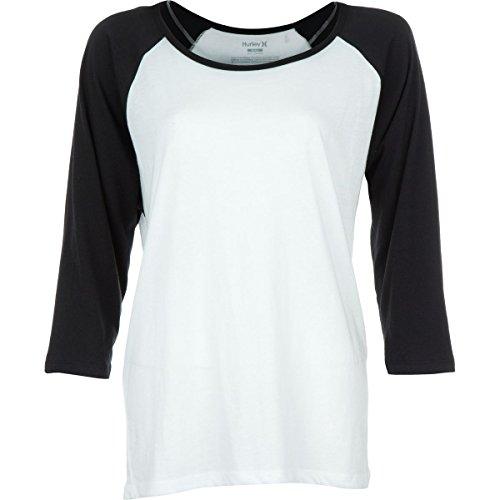 UPC 889294059716, Hurley Women's Solid Slouchy Raglan White/Black T-Shirt XS (US 00-1)
