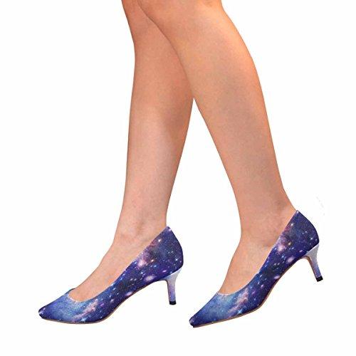 Talon De Chaton Lowprint Womensprintprint Bout Pointu Robe Chaussures De Pompe Illustration Abstraite Avec Une Belle Étoile Espace Nébuleuse Multi 1