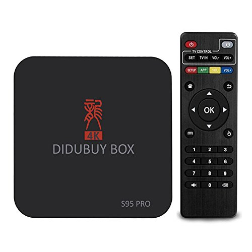 Best Prices! S95pro Android TV Box, Aismart Amlogic S905X Quad Core 1G+8G 4K-RHD WIFI Android 6.0 Bo...