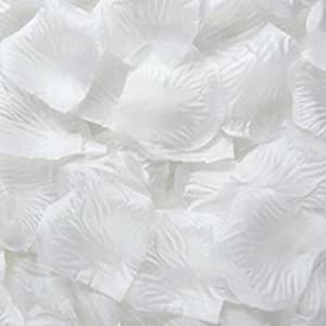 Sonline 1000 PCS Fabric Silk Flower Rose Petals Wedding Party Decoration White 56