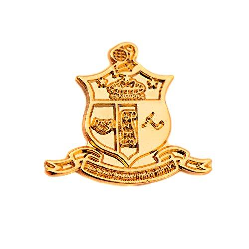 Desert Cactus Kappa Alpha Psi Fraternity Gold Sandblasted Crest Lapel Pin Enamel Greek Formal Wear Blazer Jacket Nupe (Gold Sandblast Pin)