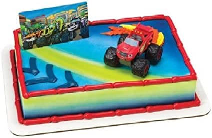 Outstanding Amazon Com Cakedrake Blaze The Monster Machines Red Truck Funny Birthday Cards Online Elaedamsfinfo