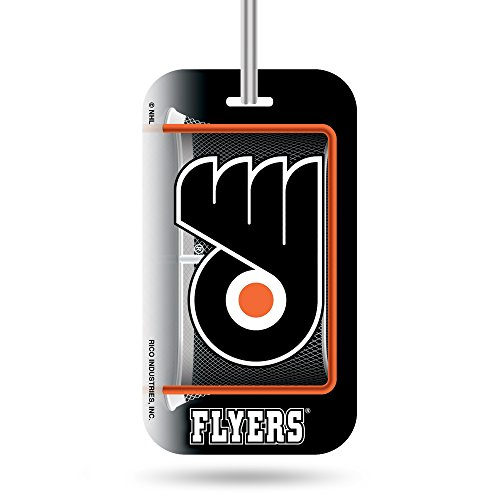 Tag Flyer Luggage (Rico Industries NHL Philadelphia Flyers Plastic Team Luggage Tag)