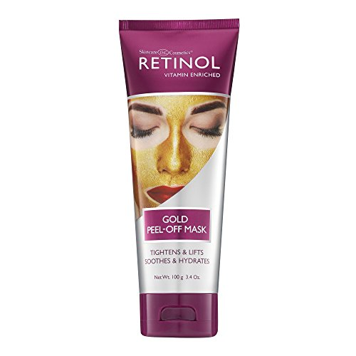 Hydration Facial Peel Off Mask - Retinol Gold Peel-Off Mask – Luxurious Treatment Tightens, Lifts, Soothes & Hydrates Skin For Luminous Finish – Real Gold Helps Firm & Brighten While Flower Extracts Nourish & Restore Youthful Texture