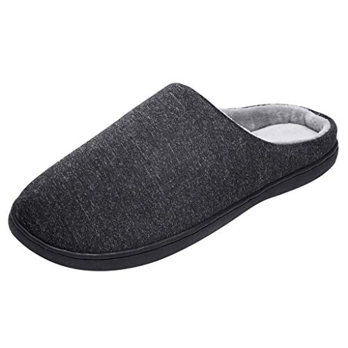 Men's and Women's Comfort Quilted Memory Foam Fleece Lining House Slippers Slip On Clog House Shoes,SUNSEE 2019 by MEN SHOES BIG PROMOTION-SUNSEE (Image #9)