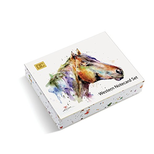 Stationery Horse (Western Watercolor White 6 x 5 Paper Notecards Pack of 16 in Magnetic Gift Box)
