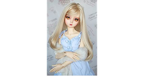 New Arrival 22-24cm Long Black Ponytail Wig For 1//3 SD PULLIP BJD Doll Wig