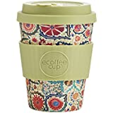 Ecoffee Cup Reusable and Eco Friendly Takeaway Coffee Cup, Organic Bamboo 12oz