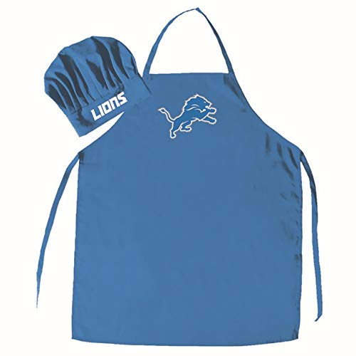 PSG, NFL Detroit Lions Apron and Chef Hat SetApron and Chef Hat Set, Team Colors, One ()