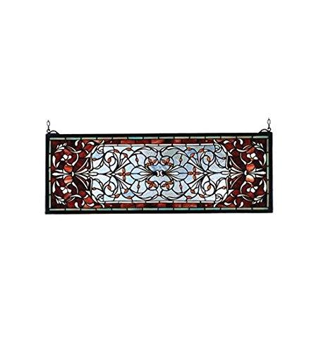 Meyda Tiffany 98059 Versaille Transom Stained Glass Window, 28
