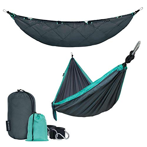 Winterial Underquilt Camping Hammock, with Duck Down Insulation Blanket