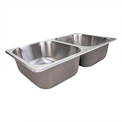 RV Stainless Steel Sink | 27x16x17 | Double RV Kitchen Sink | RV Sink | Camper Sink | Double Bowl Sink (Camper Van Sink)