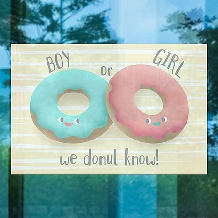 | 27x18 5-Pack CGSignLab Inner CircleGender Reveal -Donuts Window Cling