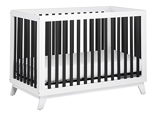 Little Seeds Rowan Valley Flint Crib, Black/White