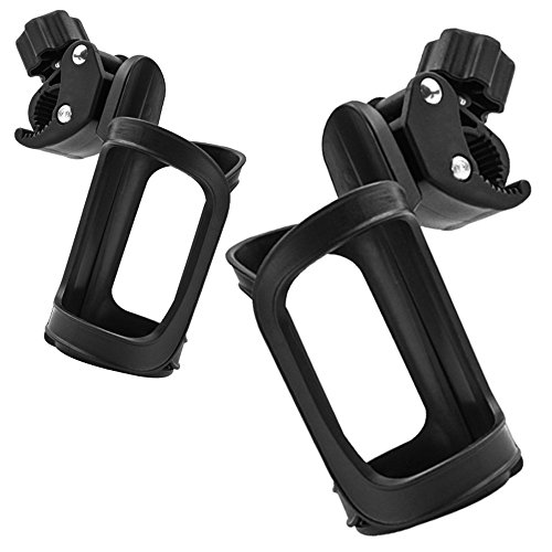 2 Pack Multi Purpose Trolley Cup Holder, Universal 360 Degrees Rotation Antislip Cup Drink Holder for Baby Stroller, Bicycle, Wheelchair, Motorcycle by Elaziy