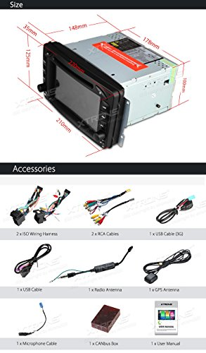 XTRONS Android 6.0 Octa-Core 64Bit 7 Inch Capacitive Touch Screen Car Stereo Radio DVD Player GPS CANbus Screen Mirroring Function OBD2 Tire Pressure Monitoring for Mercedes Benz W203 W209 W463 by XTRONS (Image #8)