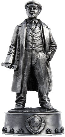 Vladimir Lenin Leader of the Russian revolution Tin Toy Soldiers Metal Sculpture Miniature Figure Collection 54mm (scale 1/32) (S9)
