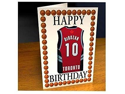 Tarjetas de cumpleaños con diseño de camiseta de baloncesto de la NBA