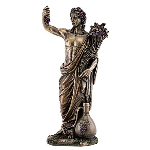 - Top Collection Dionysus Greek Roman Statue - God of Wine and Festivity Sculpture in Premium Cold Cast Bronze- 13-Inch Collectible Son of Zeus Figurine