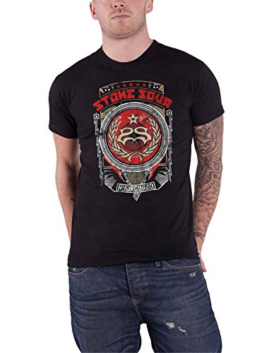 Stone Sour T Shirt Hydrograd Band Logo Official Mens Black Size ()