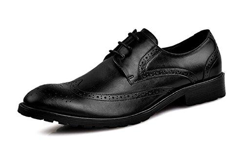 Happyshop (tm) Scarpe Eleganti Da Uomo In Pelle Oxford Con Cuciture Classiche, Scarpe Stringate Da Uomo Nere