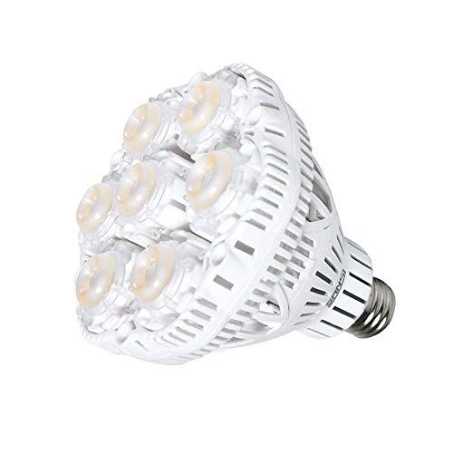 (SANSI 36W LED Grow Light Bulb Daylight Plant Light Full Spectrum Grow Light, Sunlight White Grow Bulb for Indoor Garden Greenhouse Grow Walls, UV IR, E26 90 132V)
