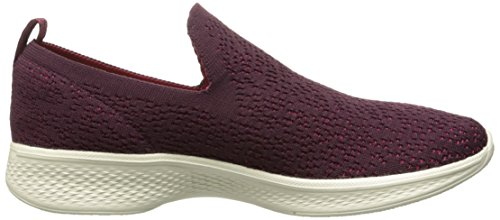 Skechers Womens Go 4-14918 Walking Shoe Burgundy