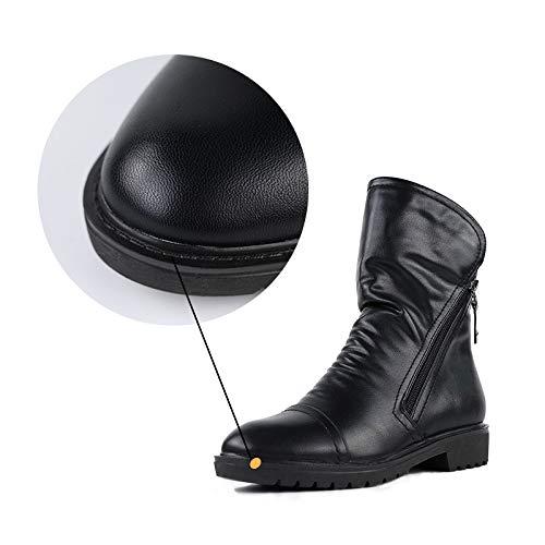 Antiscivolo Velluto Martin Più Caldo Calzature Stivali Work Scarpe Invernali Semplici Basse Casuali Black Piatte Utility FOqBnxntw