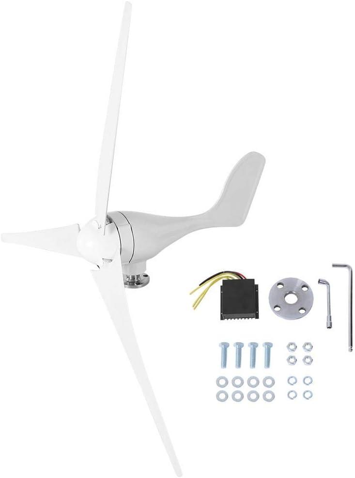 Zerone Generador de Viento, 500W DC12V 3 Palas Aerogenerador para el Hogar y Industrial