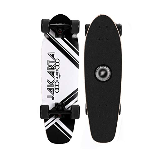 GDF-SKATEBOARD Skateboards Complete Skateboards Mini Cruiser Skateboards Beginners Concave Deck 7 Layers Maple for Beginners Boys Girls Youths Adults (Color : E) (Classic Mini Best Shock Absorbers)