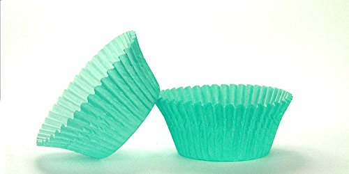 50pc Solid Teal Color Standard Size Cupcake Baking