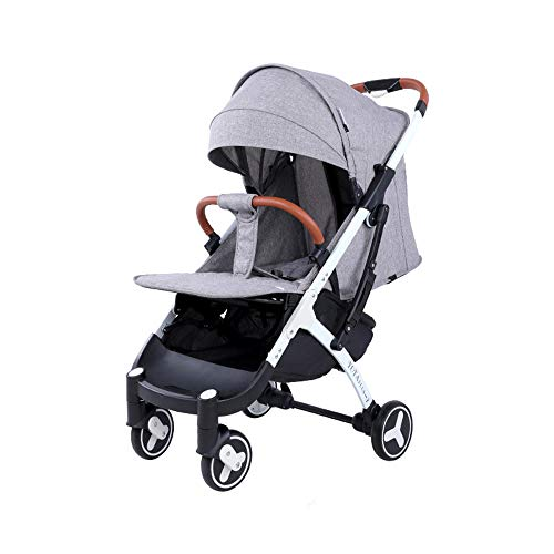 - DYFAR Carrycot and Pushchair, Lightweight Folding Buggy up to 25 kg with Lying Position, Cup Holder, Raincover, Stone Grey Lying Position, Small Foldable, Lightweight, Gray