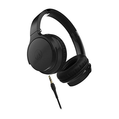 Audio Technica ATH AR3iS BK Portable On Ear Headphones