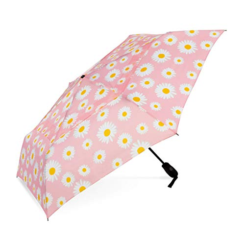 ShedRain WindPro Vented Auto Open Auto Close Compact Wind Umbrella: Daisy Bell Floral ()