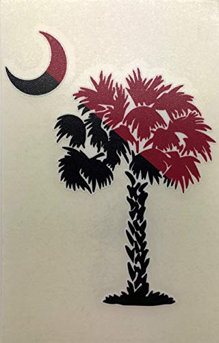 Crescent Decal - Auto Graphics South Carolina Palmetto Tree and Crescent Moon Decal - 5