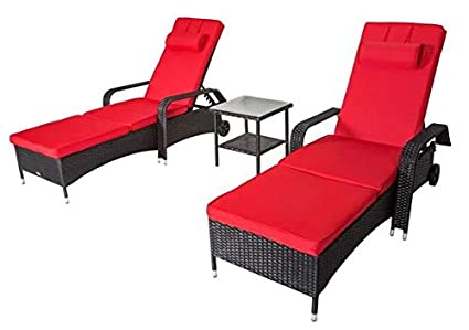 Amazon.com: Sun Loungers Outdoor -Lounge Chairs for Pool ...
