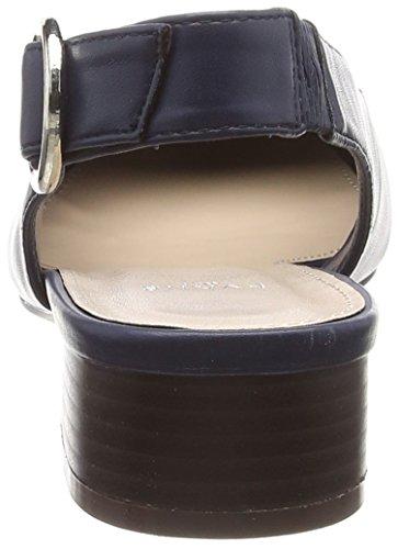 la Donna Fiona col Scarpe Navy Dietro Cinturino Evans 23 Tacco con Blu Caviglia Ox0wwB