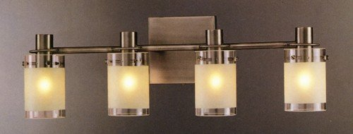 George Kovacs P5004-056, Chimes,  4 Light Bath Fixture, Antique - George Light Kovacs 4 Bath