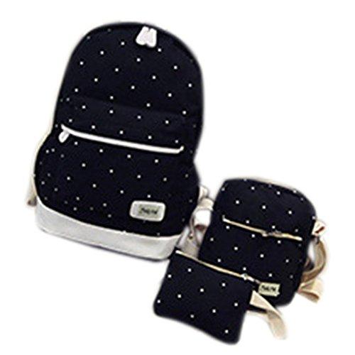 Remeehi - Bolso mochila  para mujer, negro (Gris) - JXQ0691-7 negro