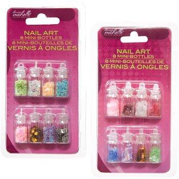 Nail art 8 mini bottles
