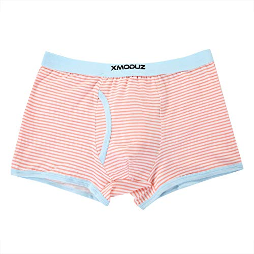 Xiaomaoduizhang Toddler Little Boys Soft Cotton Boxer Briefs Underwear 2 Pack Boys' 2-Pack Athletic Pink+Brown 110cm by Xiaomaoduizhang (Image #1)