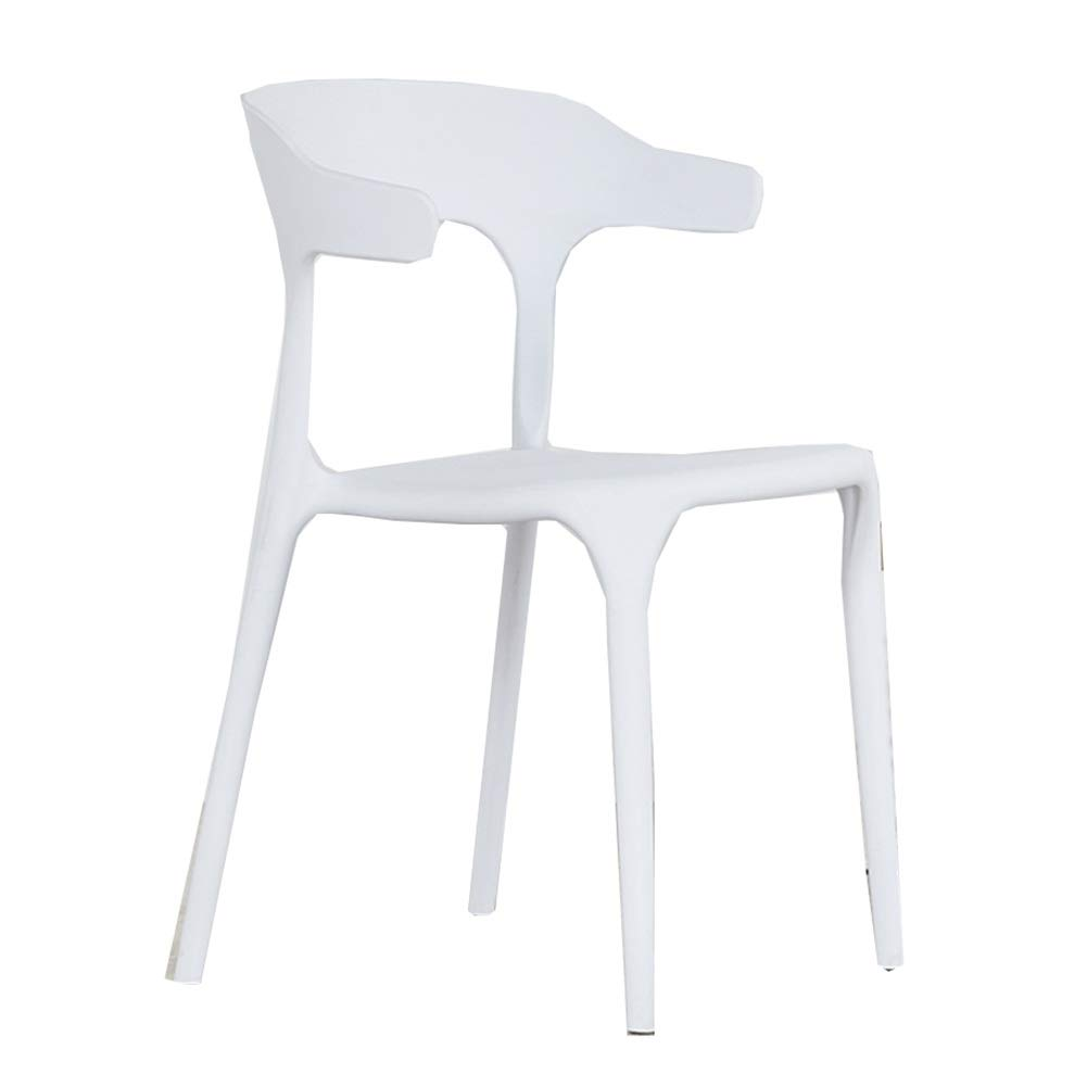 White Dining Chairs Dining Table Chair Kitchen Chairs-Creative Leisure Nordic Plastic Household Office Environmental Predection Sturdy Haiming (color   Camel)