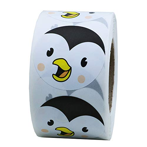 Hybsk Cute Penguin Face Smiley Face Stickers Animal Stickers 1.5
