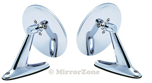 Vintage Style Round Chrome Mirrors for Hot Rods, Classic Muscle Car Resto (BRAND NEW!) ()