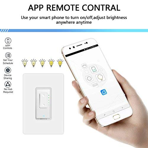 Smart Dimmer Switch by Martin Jerry   Mains Dimming (TRIAC) ONLY, Single  Pole, works with Alexa as WiFi Light Switch Dimmer, Works with Google