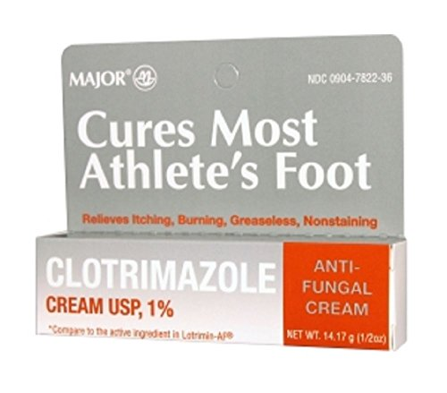 Major Pharmaceuticals Clotrimazole Cream 1% Tube, 28.35 Gram