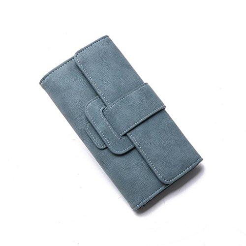Taille Main Générique Couleur de Pochette Sac Pack 19 Clip à Multifonctions Noir Carte à 2 5 Sac Plis Sacs de 10cm Boucle d'argent Trois Main Dames à Femmes Bleu Femme à Main XrqSxICwr