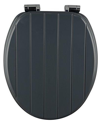 EISL edgp01sc Abattant WC Gris Panneaux avec système d'abaissement automatique Cœur en bois/MDF 3Side Water Print
